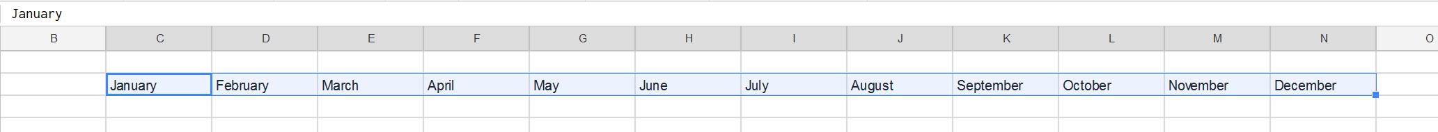 Building the calendar - 02