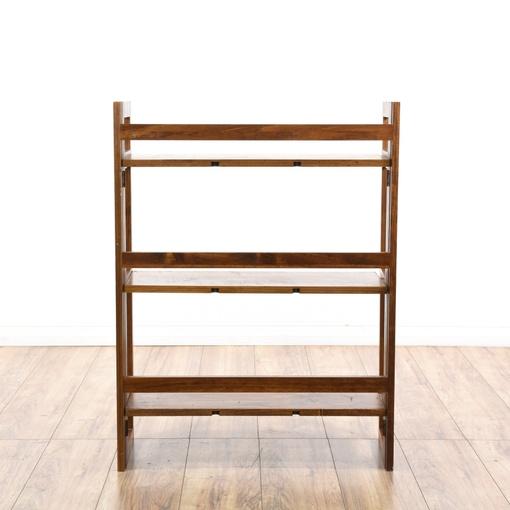 Folding cherry wood bookshelf loveseat vintage furniture