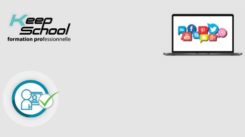 Représentation de la formation : Marketing digital et réseaux sociaux (TOSA Digcomp) : cours particuliers en visio (40h)