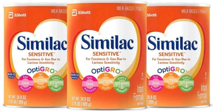 similac advance vs sensitive
