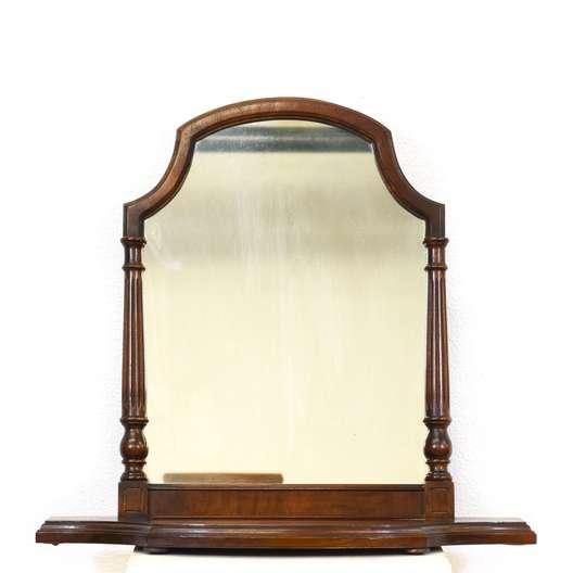 Carved Walnut Vanity Mirror