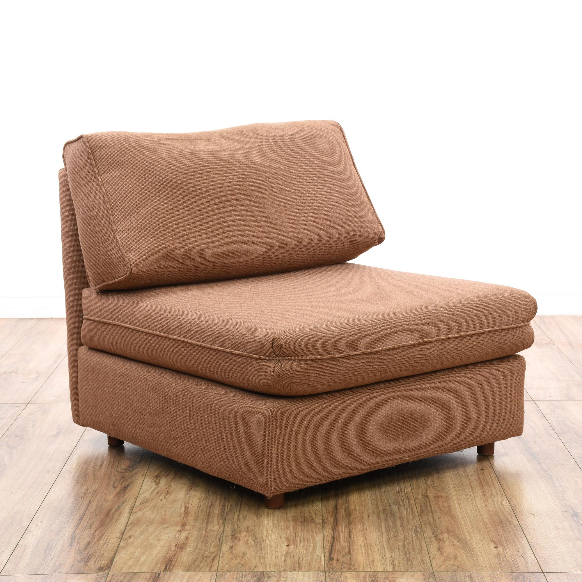 Pair Of Mauve Armless Sofa Chairs Amp Ottoman Loveseat