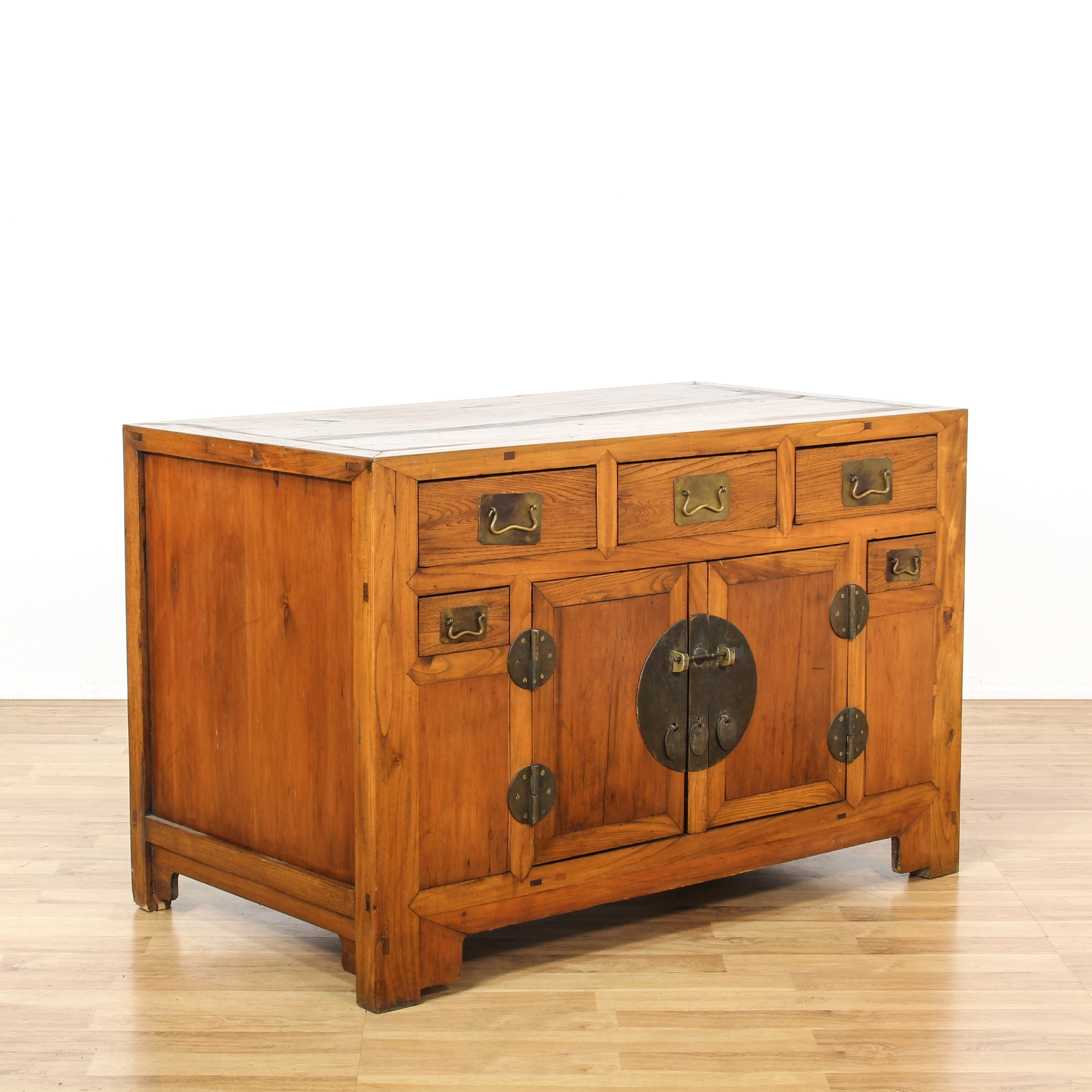 Rustic chinese sideboard buffet cabinet loveseat vintage for Oriental furniture los angeles