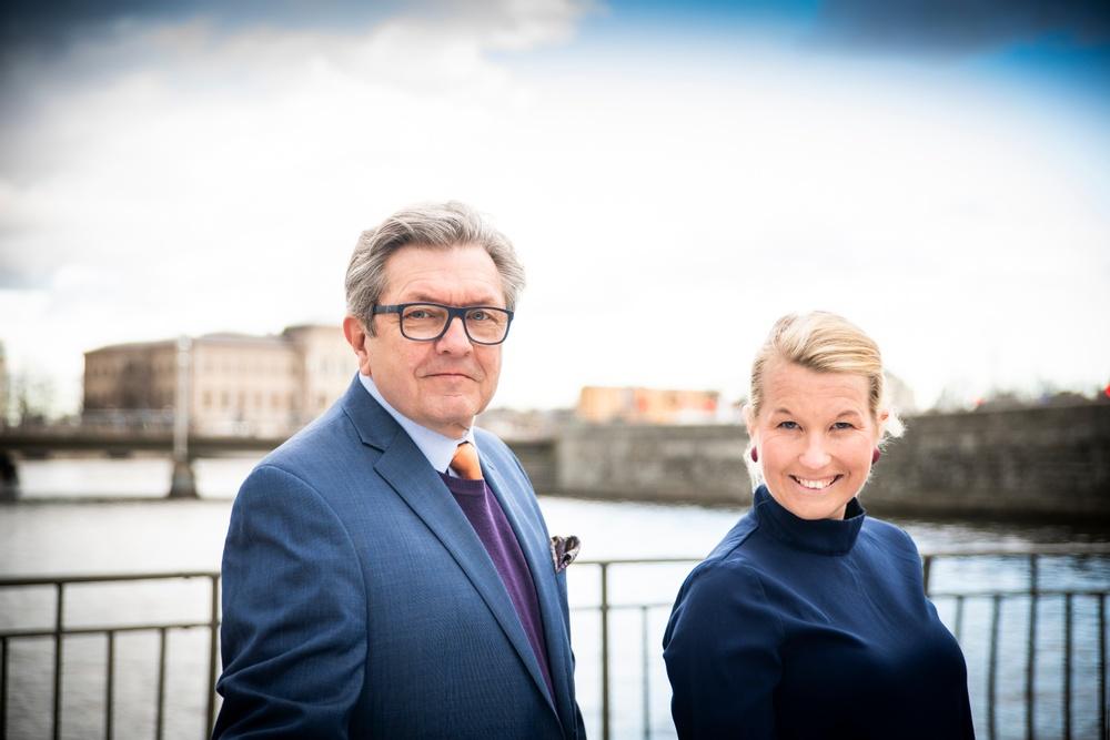 Josephine Sundqvist, generalsekreterare och Bo Guldstrand, styrelseordförande. Foto: Anna Ledin Wirén