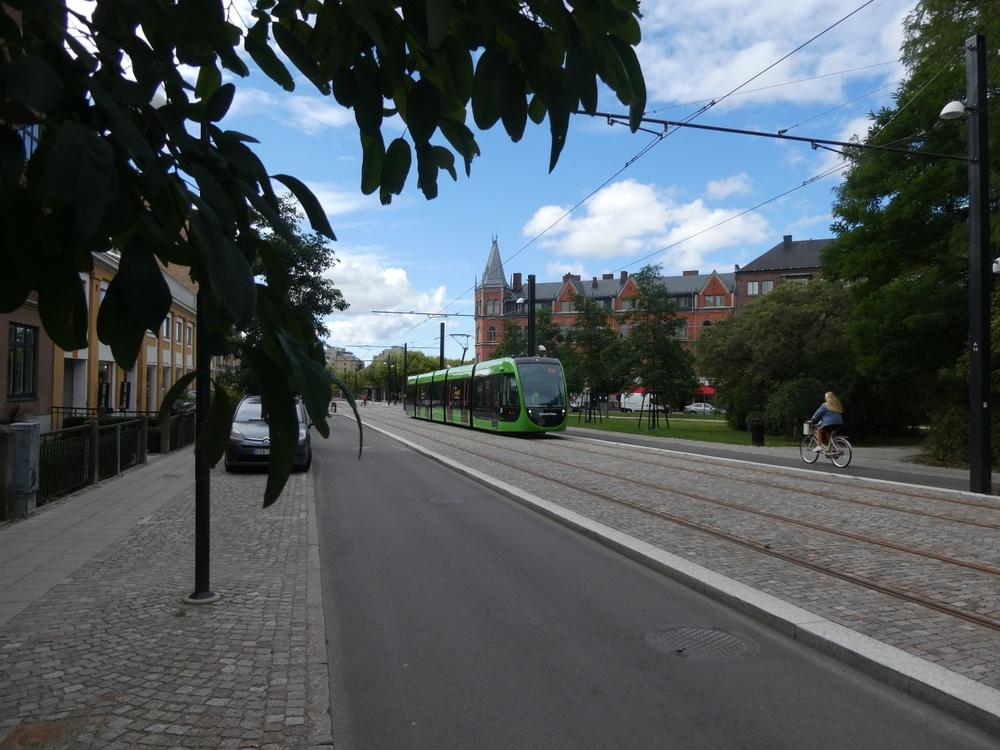 Här pågår testkörning av Lunds nya spårväg. Lunds kommun vinner SHIFT 2020.