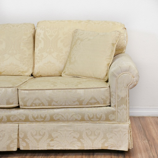 Quot Krause S Quot Cream Floral Damask Sofa Loveseat Vintage