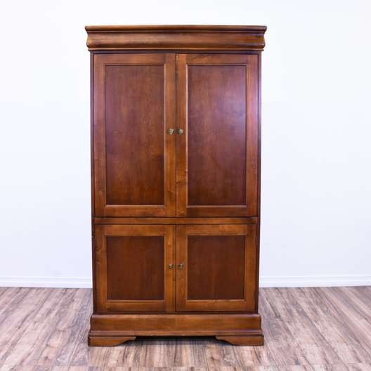 Traditional Cherry Armoire Entertainment Center