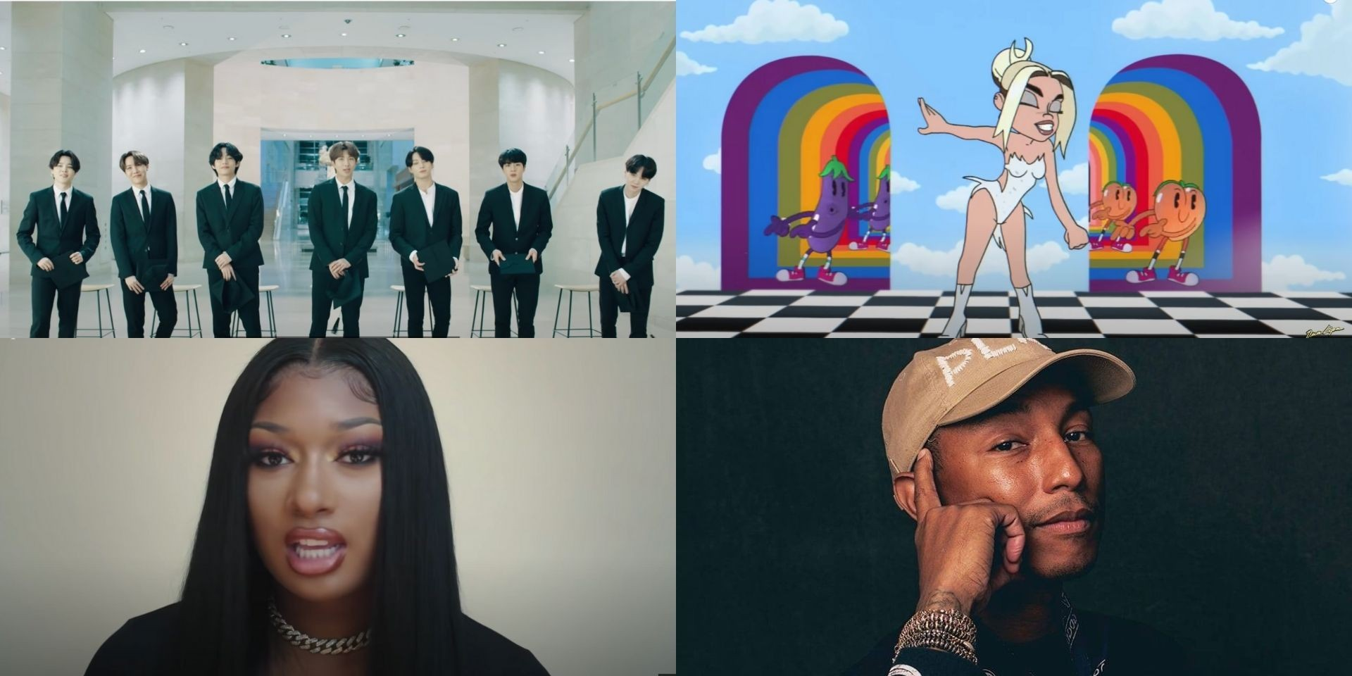 Here are the winners of the 2021 Webby Awards — including BTS, Dua Lipa, Megan Thee Stallion, Pharrell Williams, and more