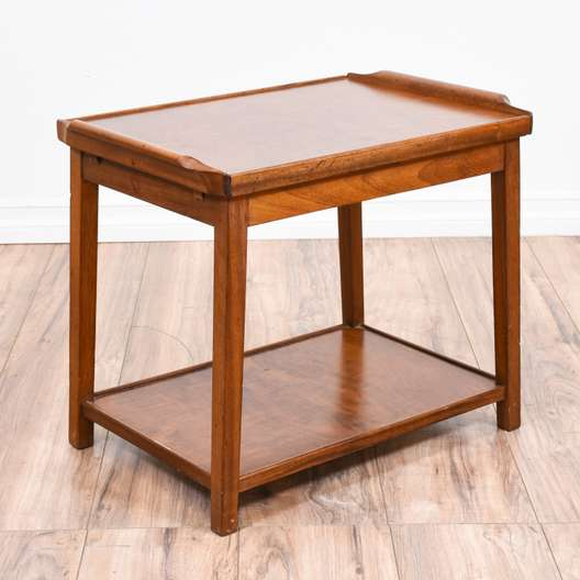 Mid Century Modern Slide Out Top End Table