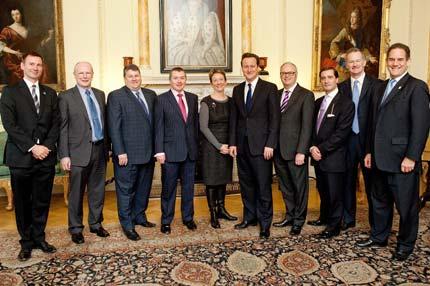 David Cameron and senior tourism professionals at Downing St