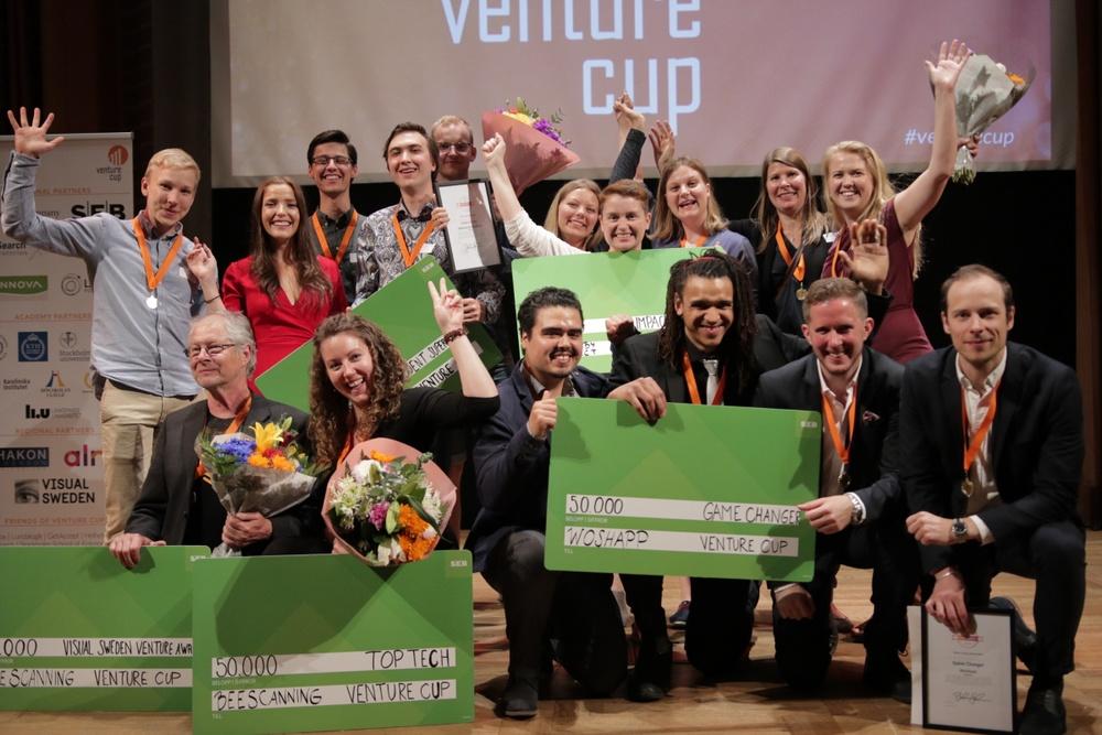 Vinnarna i STARTUP 2018, region Öst. Fotograf: Victor Ackerheim