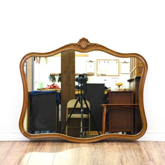 """""""Drexel"""" Curved French Provincial Mirror"""