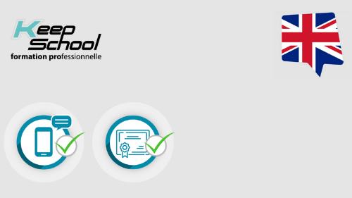 Représentation de la formation : ANGLAIS préparation intensive au TOEIC  : 1 mois de e-learning + passage de la certification