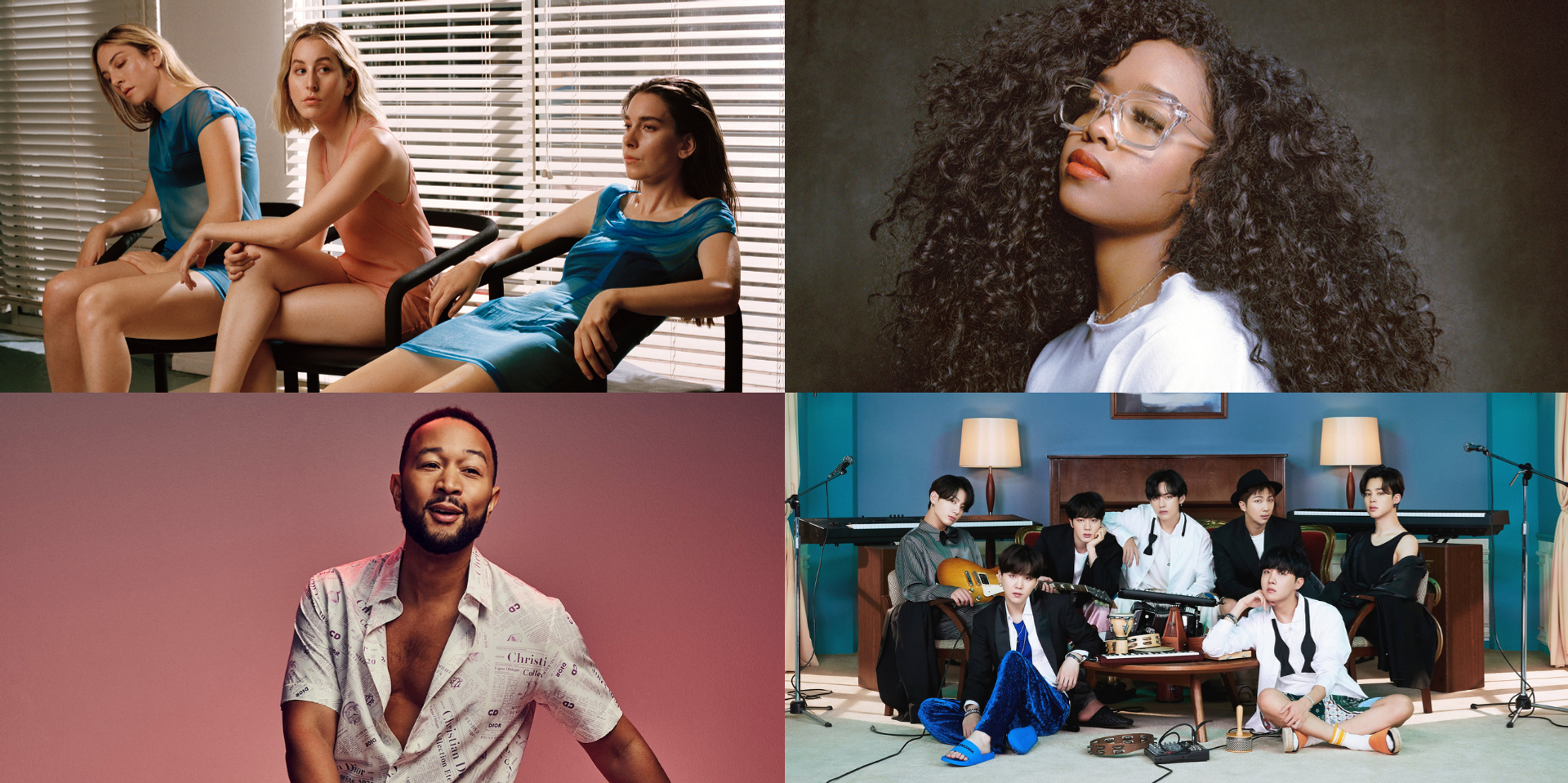 BTS, HAIM, H.E.R., John Legend, and more to perform at the Recording Academy's Music on a Mission virtual concert