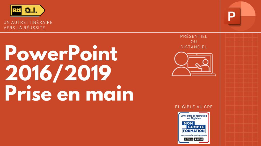 Représentation de la formation : PowerPoint 2016/2019 Prise En Main