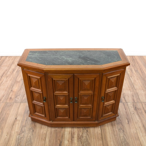 Large Foyer Cabinet : Cherry carved marble top entry foyer cabinet loveseat