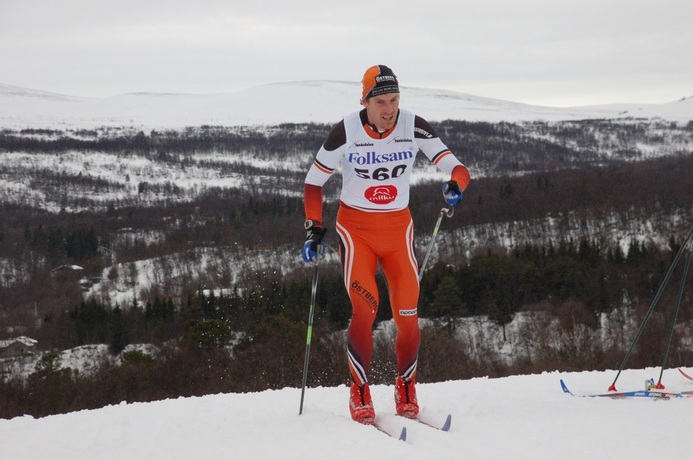 Cross-country skier and innovator Mikael Östberg on the go.