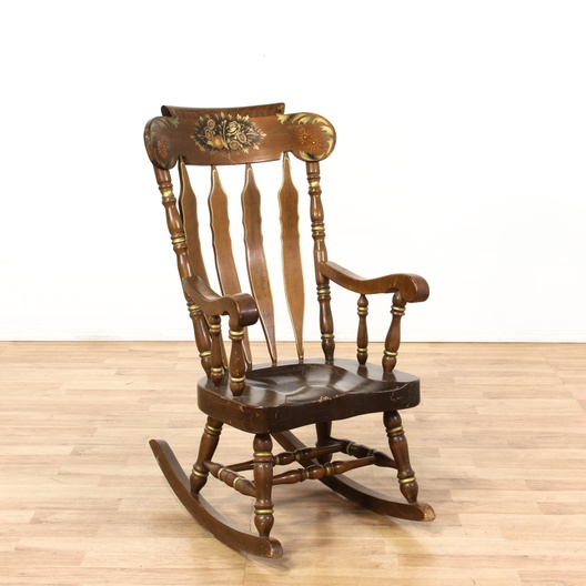 Classic american rocking chair w painted detail for Classic furniture los angeles