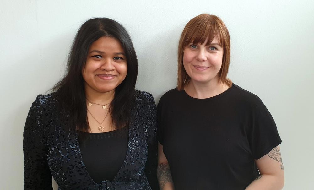 Maya Umar och Ingrid Fridesjö, grundarna av BUMI.