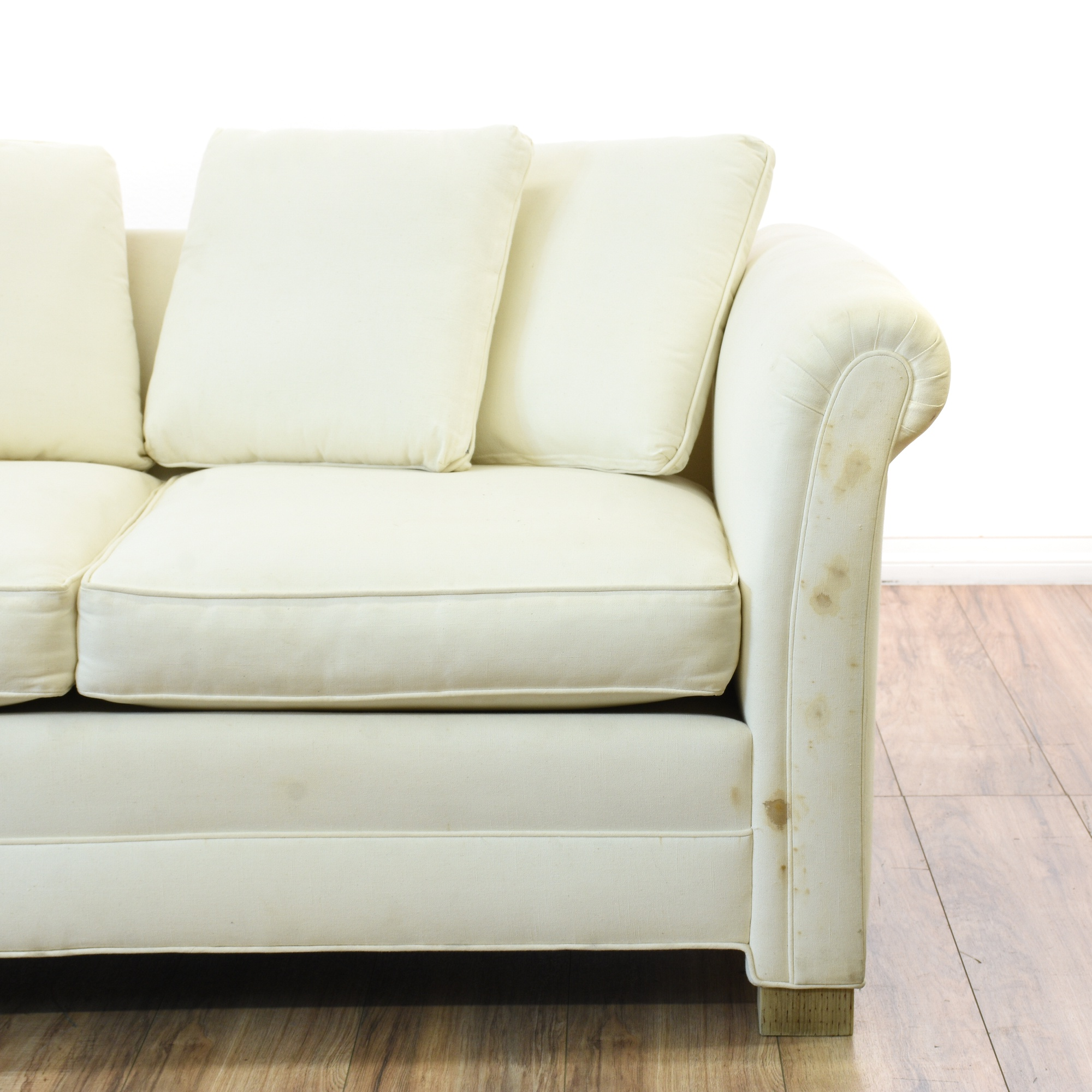 Cottage Chic White Loveseat Sofa