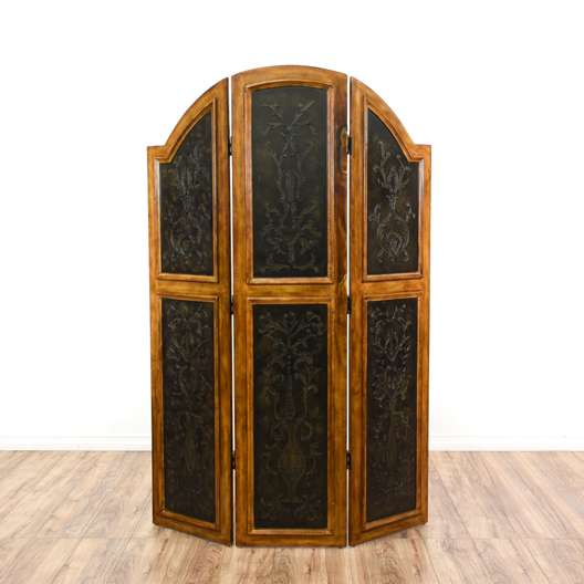 Solid Wood Carved Panel Room Divider Screen