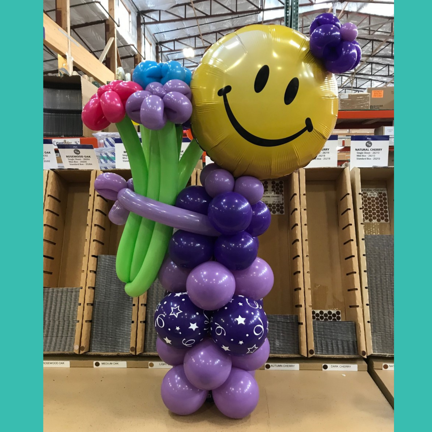Order Here Mini Share a Smile Balloon Charcter