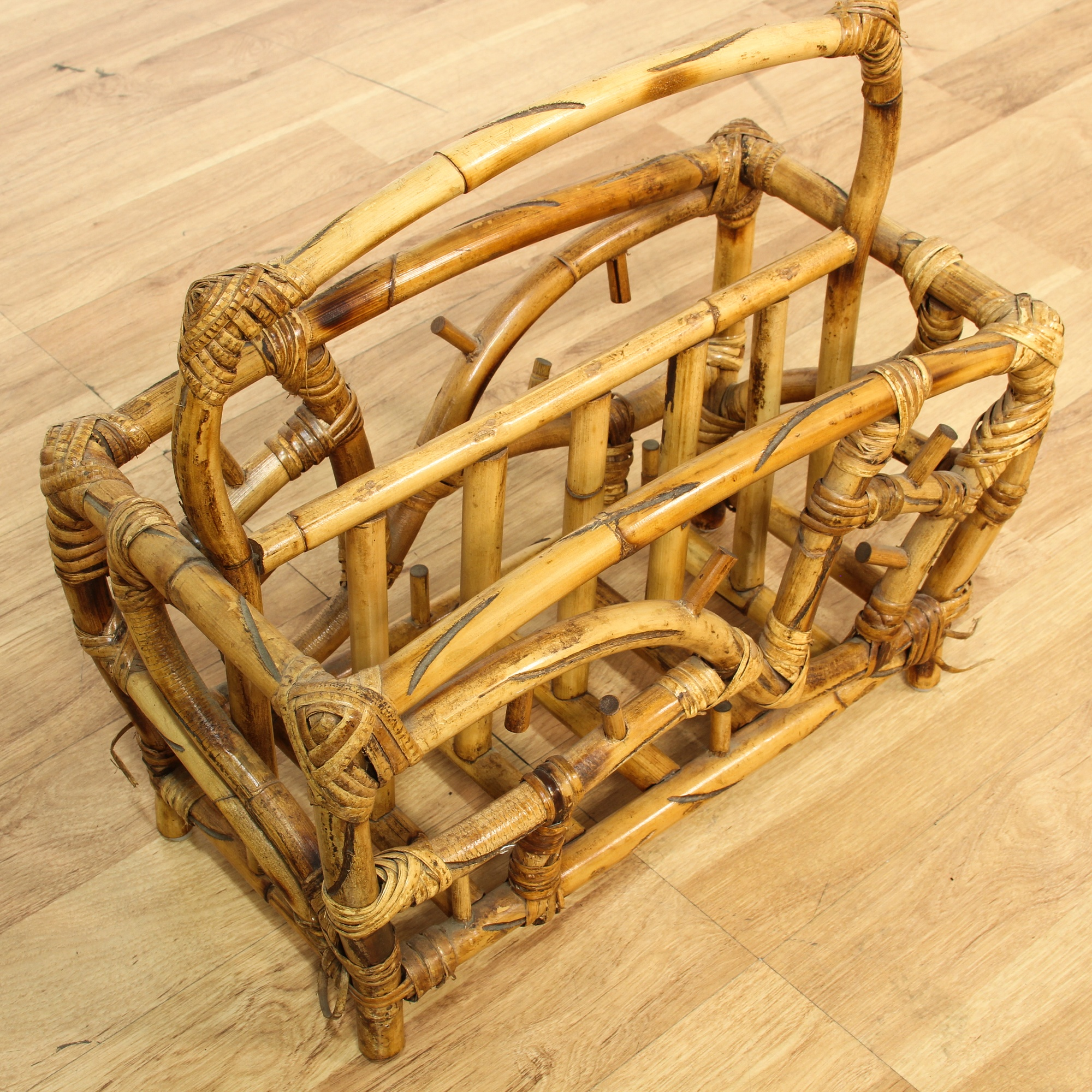 Tropical Bamboo Magazine Rack Loveseat Vintage Furniture