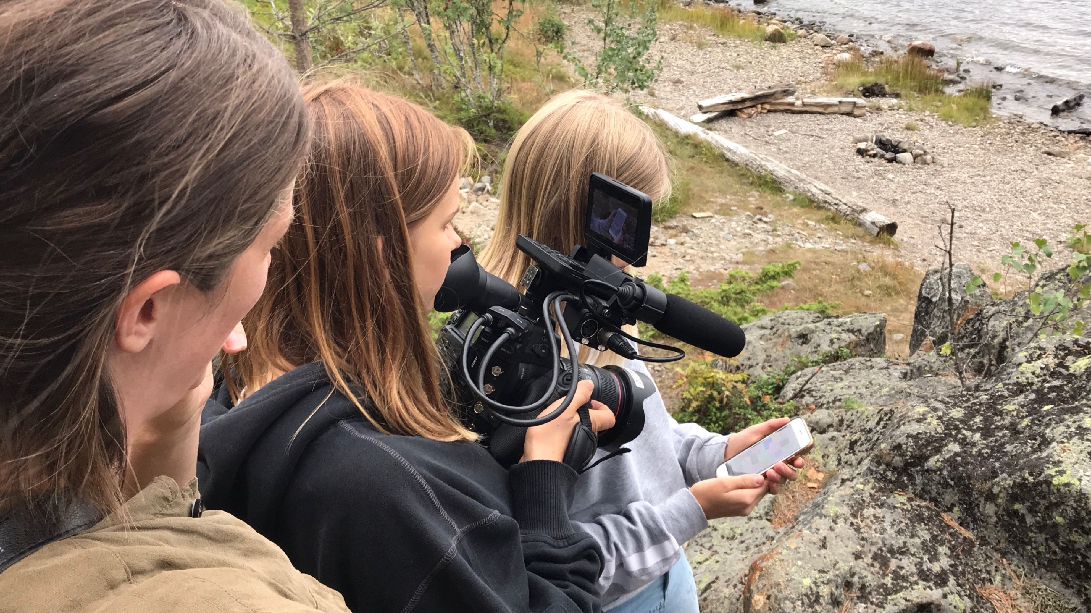 Lynx filmsommarläger på Norrbyskär i Västerbotten. Foto: Lynx Studios