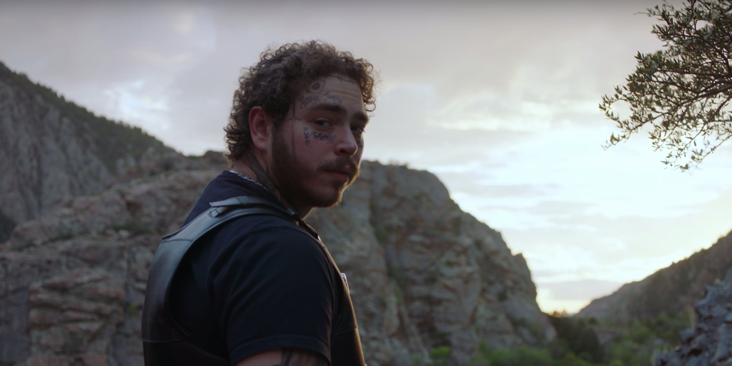 Post Malone shows off his riches in new music video for