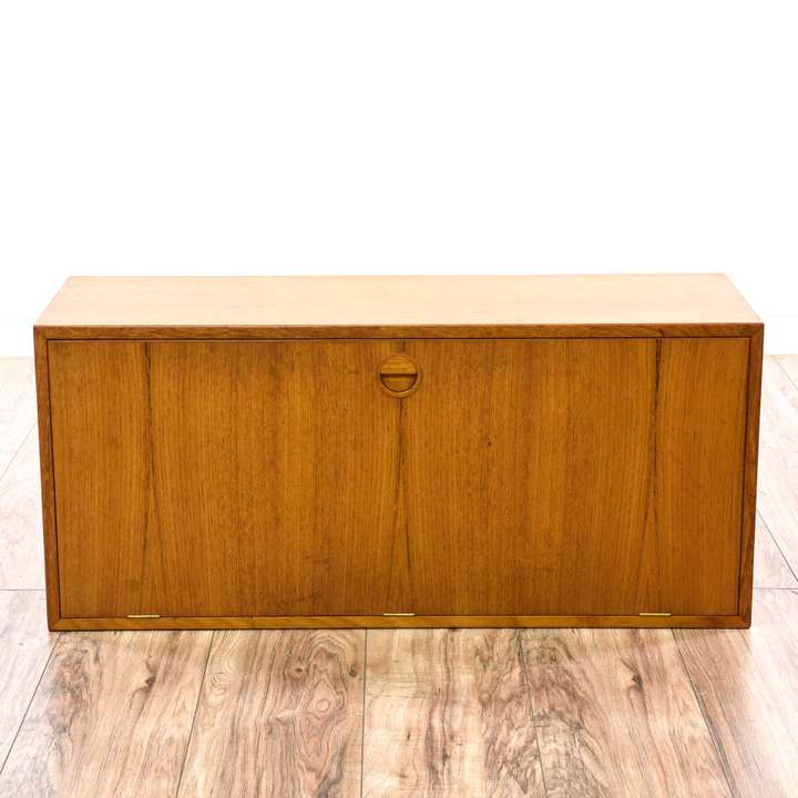 Antique Wood Ice Box Refrigerator Loveseat Vintage
