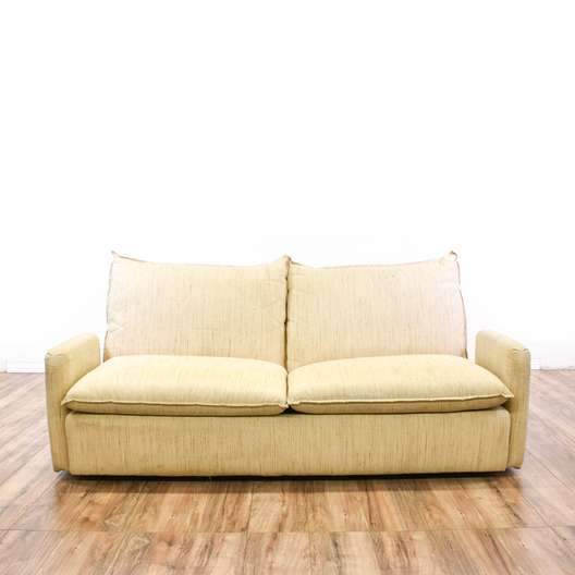 """Directional"" Contemporary Cream Loveseat Sofa"