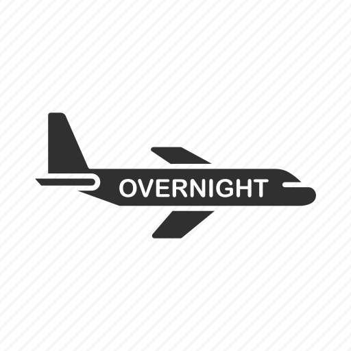 image of airoplane with text 'overnight' displayed as overlay