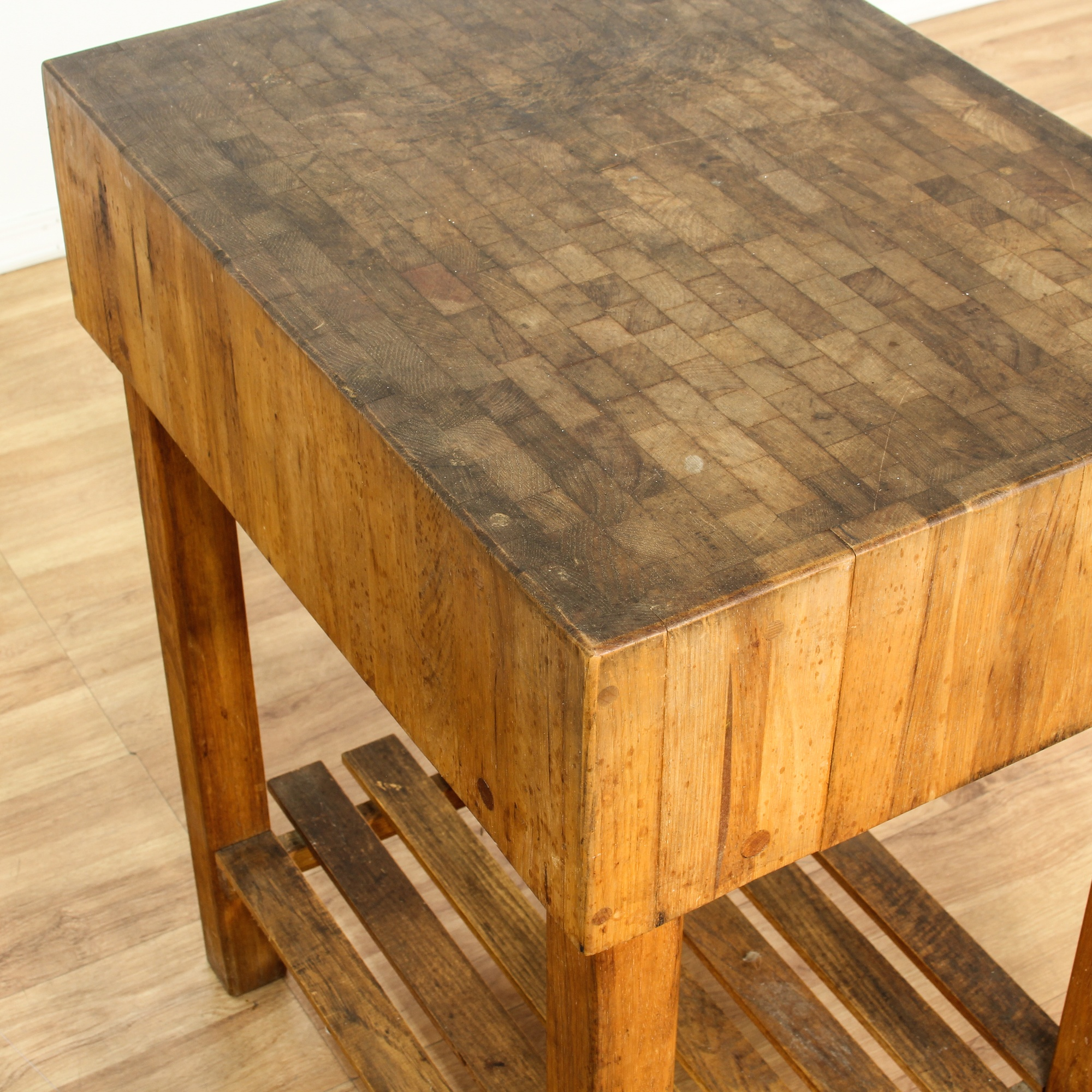 traditional butcher s block table loveseat vintage