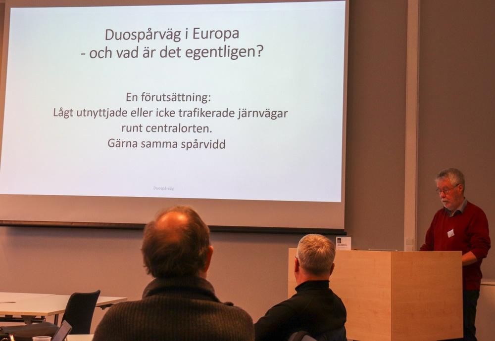 Thomas Johansson presenterade de europeiska duospårvägarna.