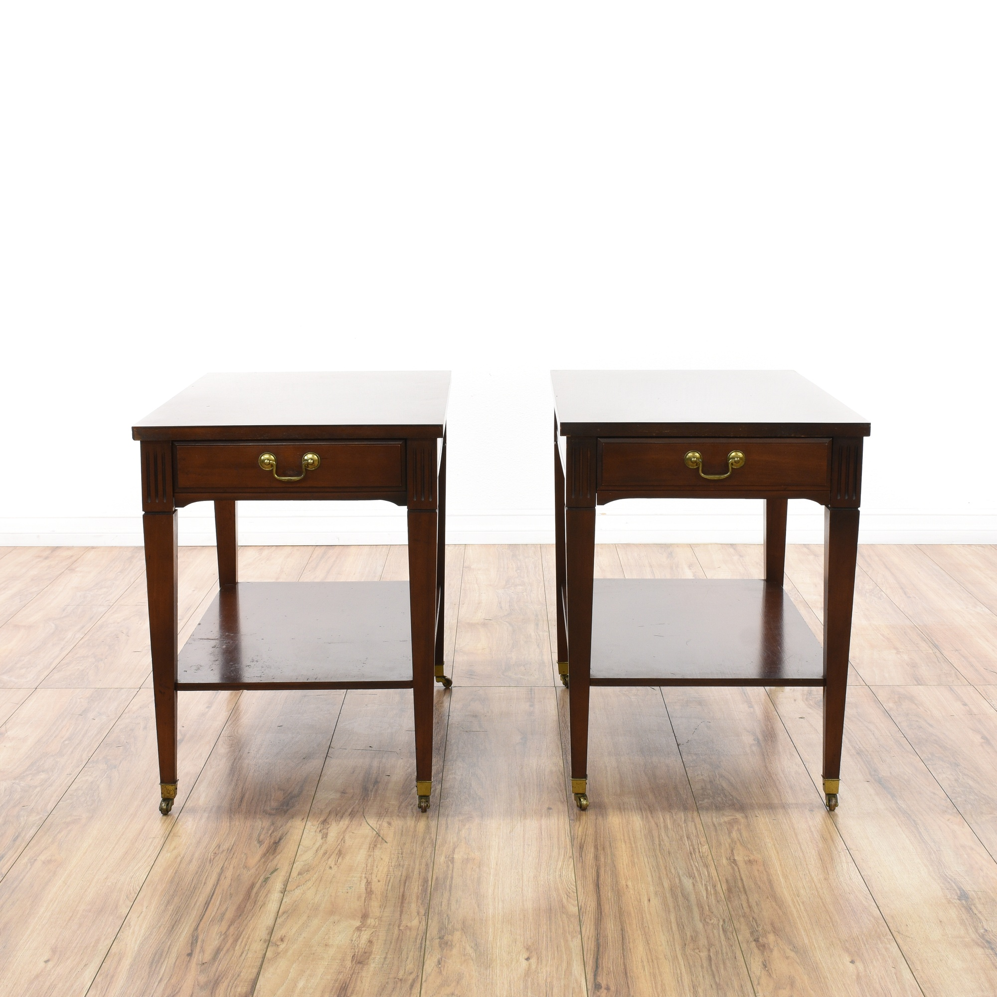 Pair of Mersman End Tables Loveseat Vintage Furniture San Diego