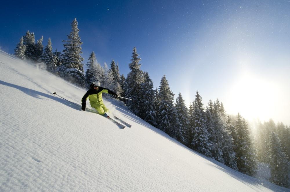 Full fart i Kvitfjell til helgen. Foto: Vegard Breie