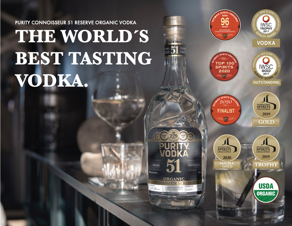 PURITY CONNOISSEUR 51 RESERVE ORGANIC VODKA