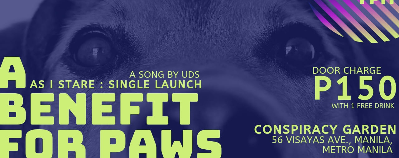 As I Stare: A Single Launch by UDS - A Benefit for PAWS