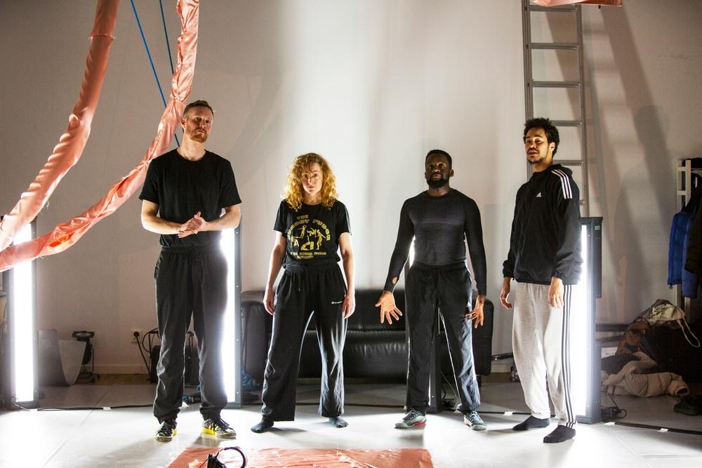 Foto: Jonath Mathew På bilden: Viktor Fröjd, Johanna Fröjd, Maele Sabuni och Yared Tilahun Cederlund.
