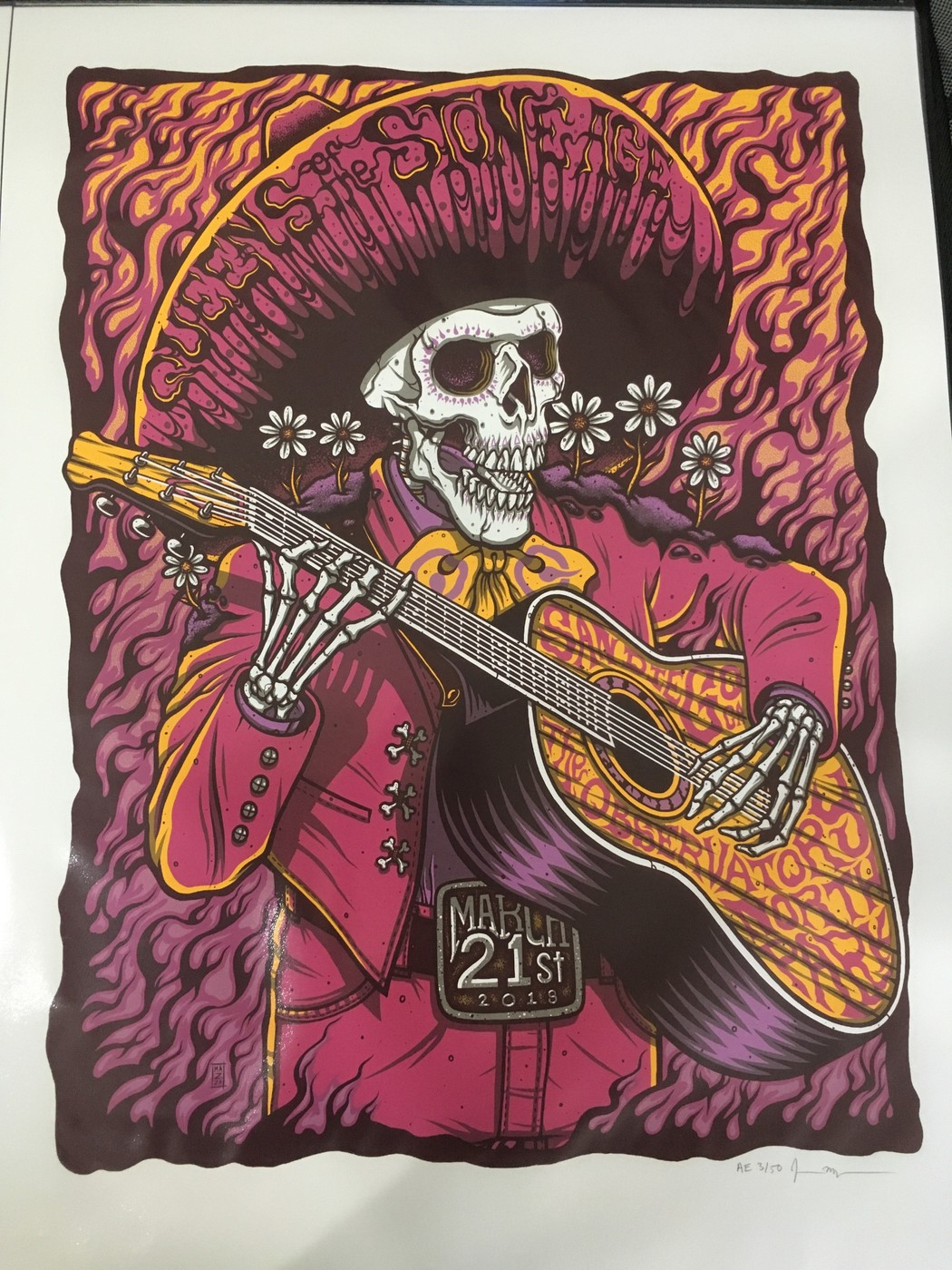 queens of the stone age 3 21 18 san diego concert poster mazza