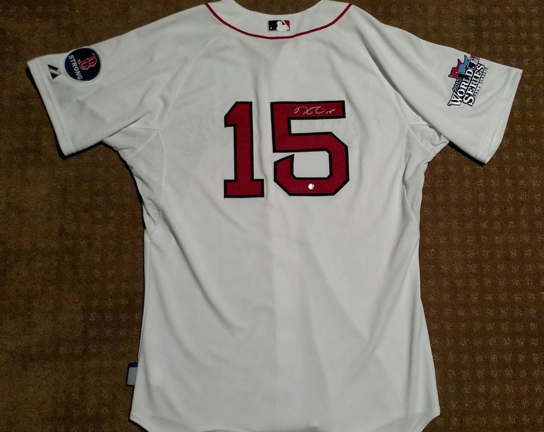low priced f01e6 ad56b Authentic 2013 Dustin Pedroia Boston Red Sox World Series ...