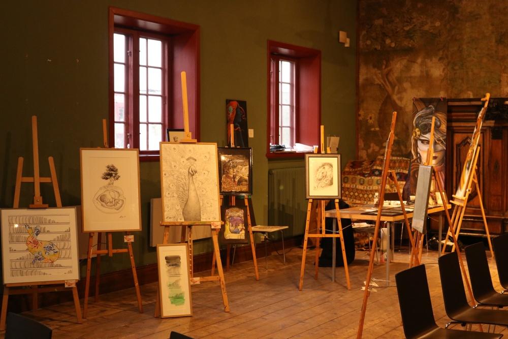 De kvinnliga tatuerarnas konst i historiska miljöer på Kulturen i Lund. Sisters Tattoo & Art Expo återkommer till Kulturen i Lund i februari 2020. Bilderna är från mässan i februari 2019. Foto: Fiona Coogan.