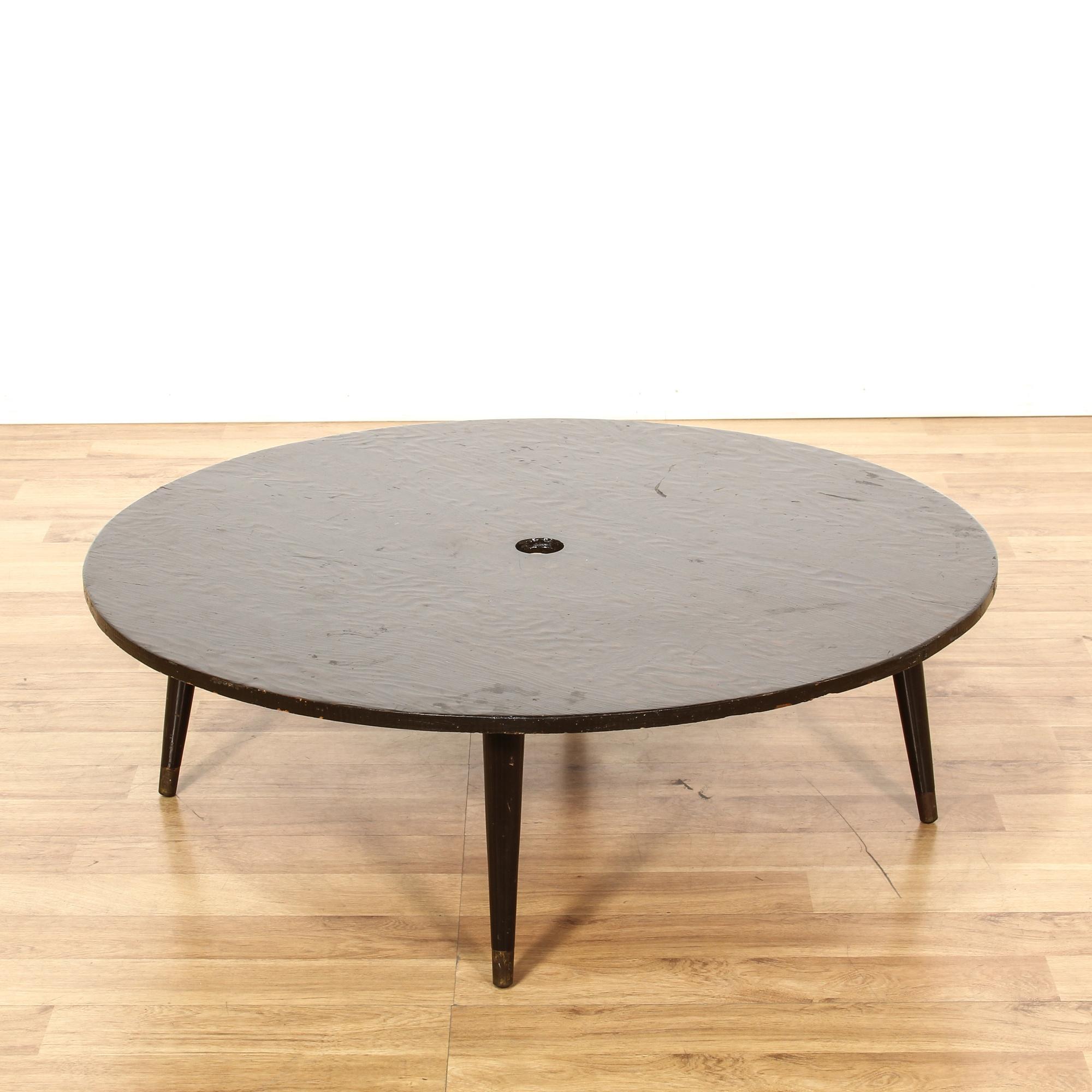Mid Century Modern Low Round Coffee Table Loveseat Vintage Furniture San Diego Los Angeles