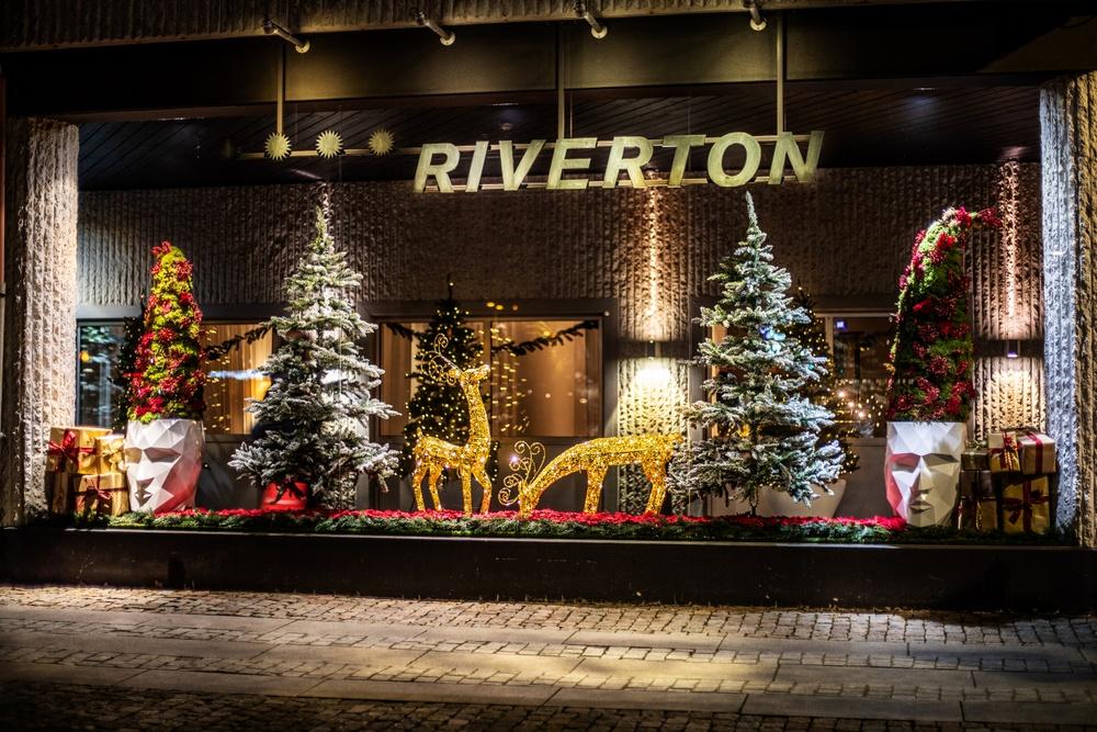 Hotel Riverton Göteborg juldekoration entré