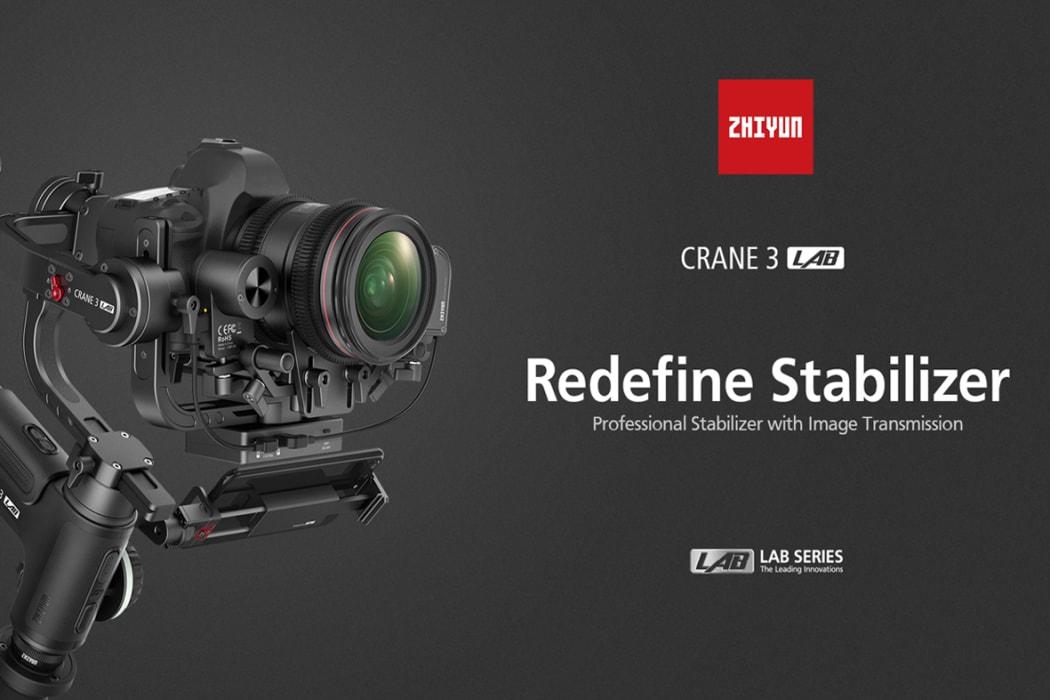 Uus Zhiyun Crane 3 LAB – innovatiivse disainiga kiirem ja tugevam stabilisaator