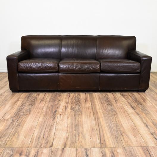 "Maxwell Leather Sofa: ""Restoration Hardware"" Maxwell Leather Sofa"