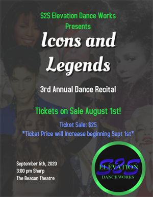BT - S2S eLevation Dance Works 3rd Annual Recital - September 5, 2020, doors 2pm