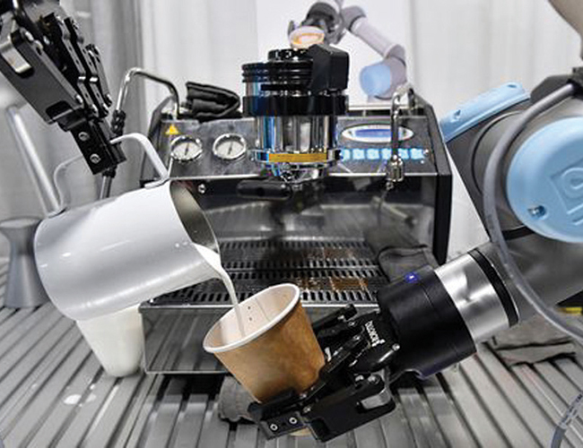 Robot barista arms by Bubble Lab of Beijing