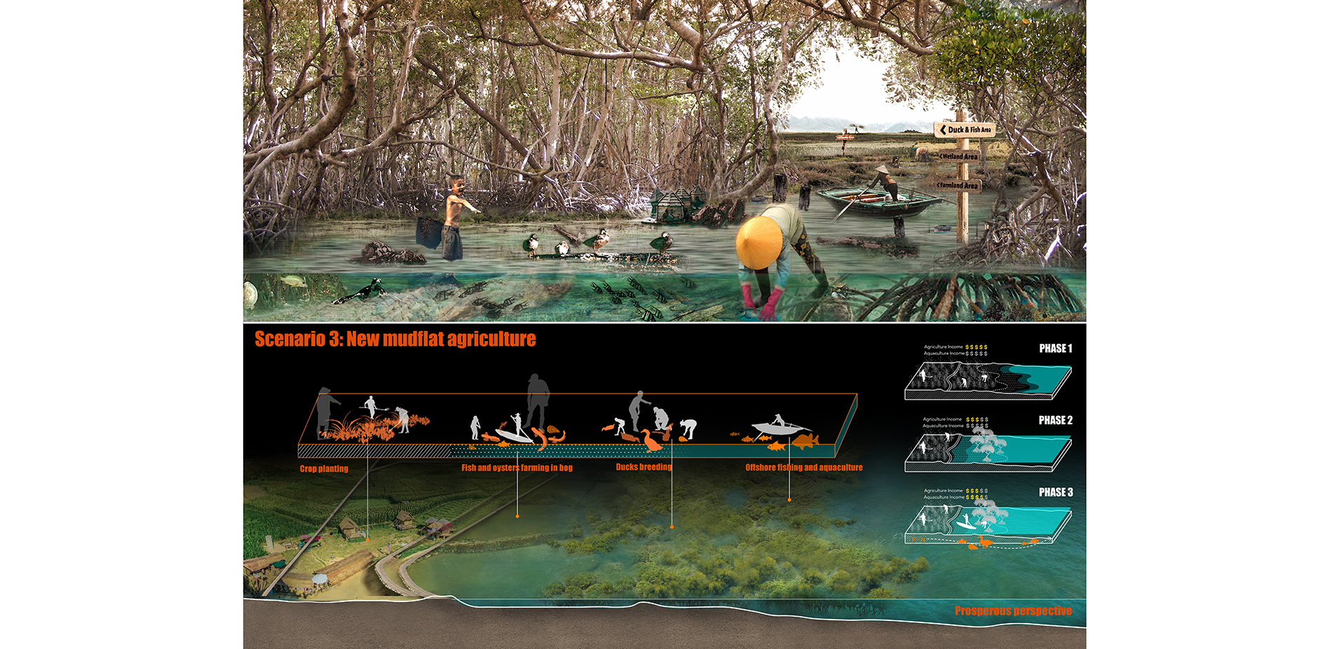 Scenario 3: New Mudflat Agriculture