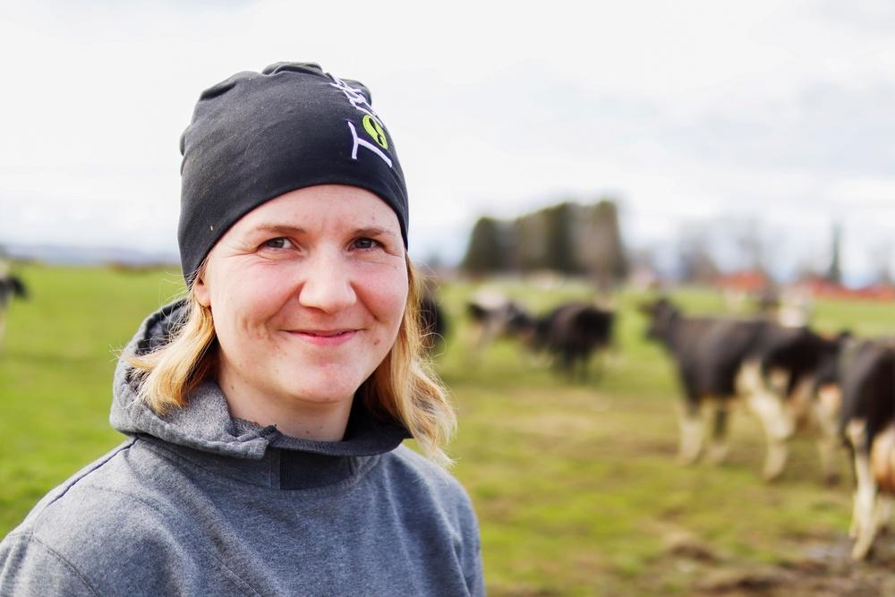 Anna-Karin Haag, ladugårdsförman på Torsta.  Foto: Torsta